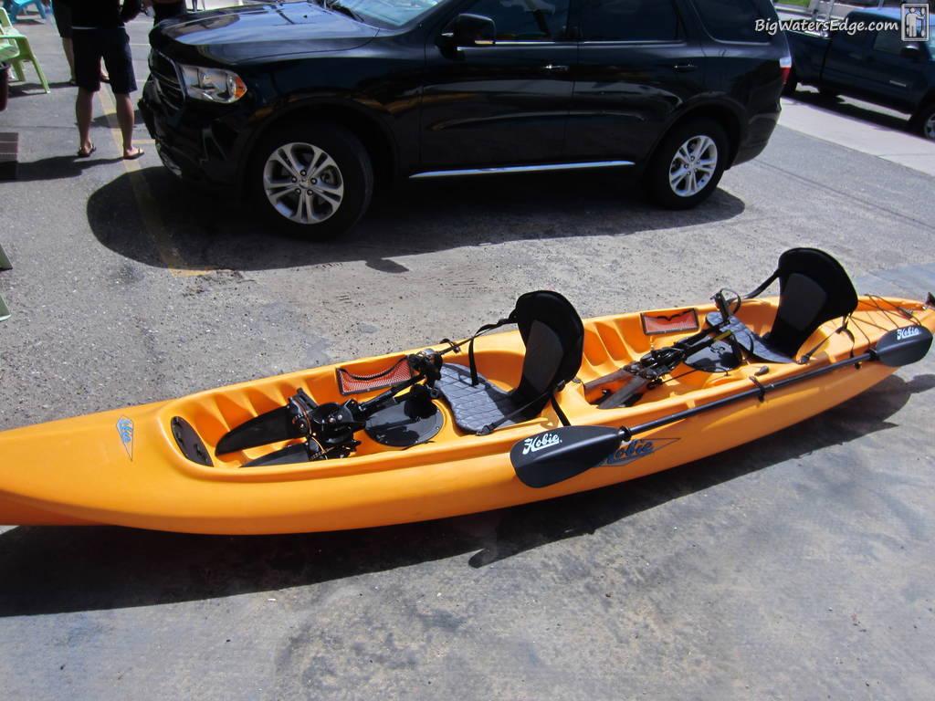 Hobie mirage tandem kayak fishing adventures on big for Hobie fishing kayak