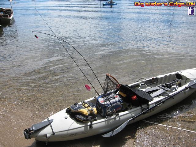 Fresh water kayak rinse kayak fishing adventures on big for Freshwater kayak fishing